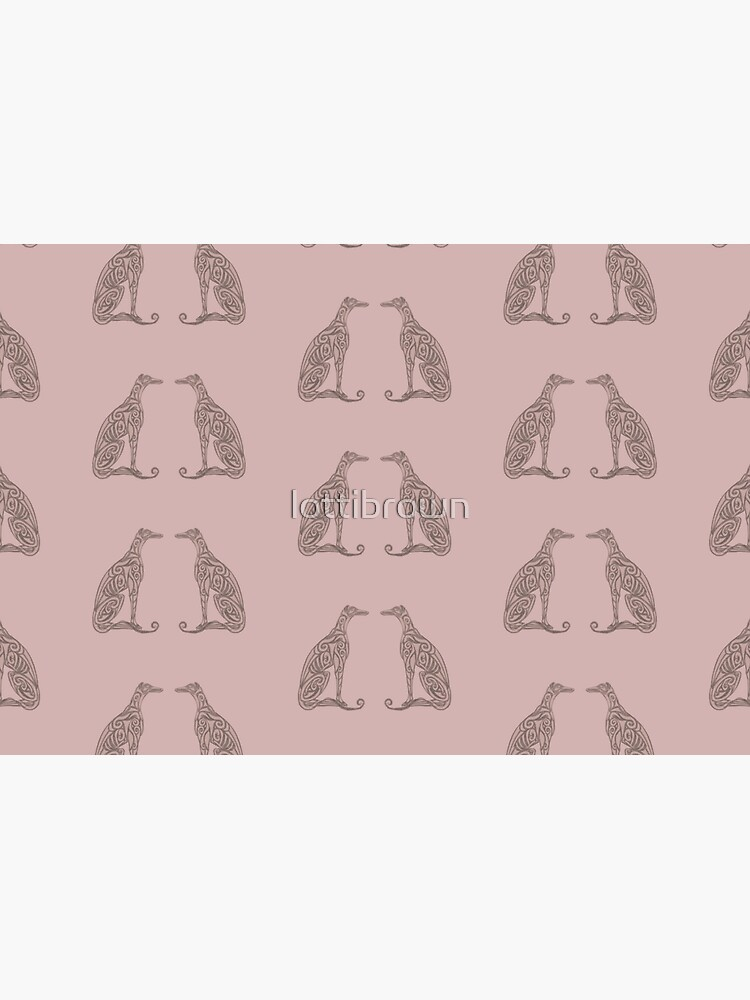 Double Greyhounds - Old Rose by lottibrown