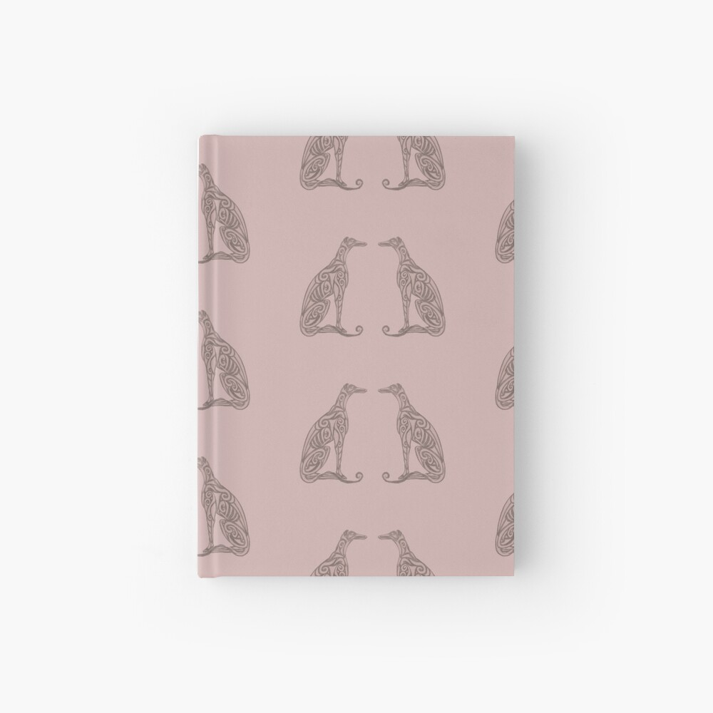Double Greyhounds - Old Rose Hardcover Journal