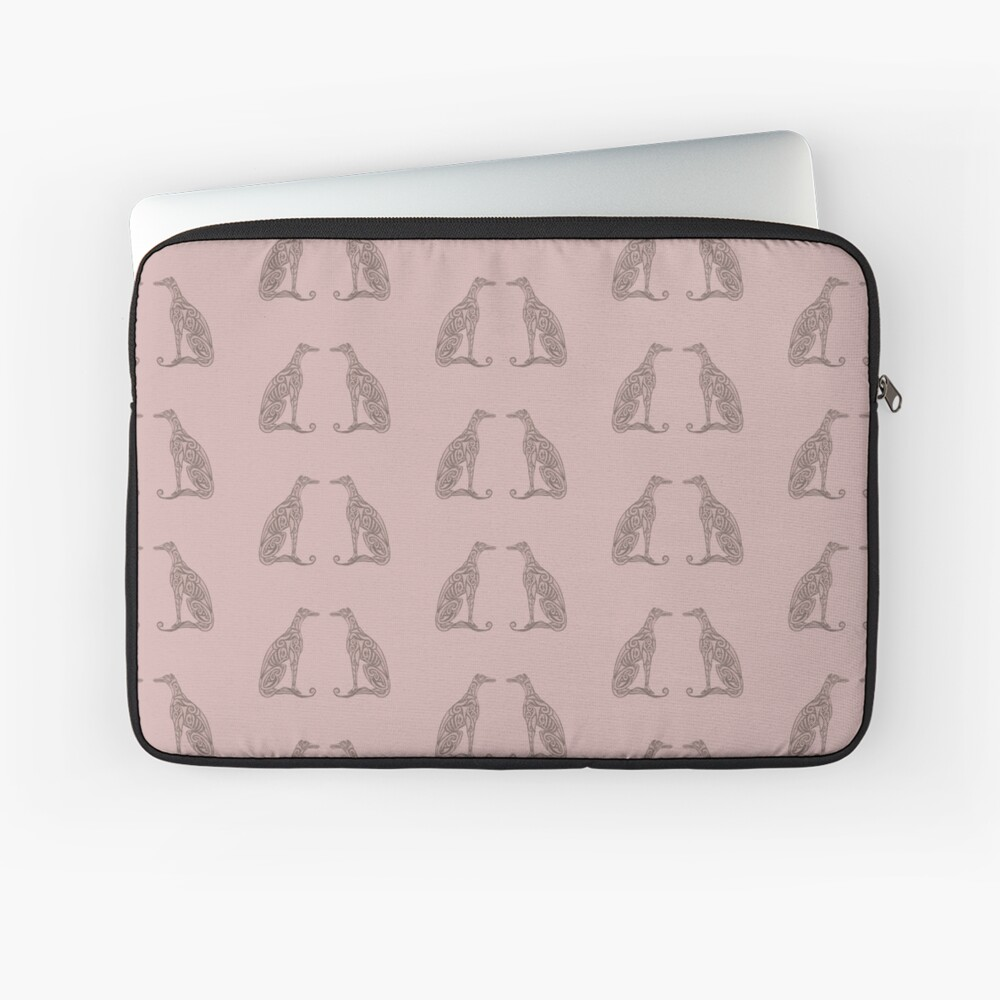 Double Greyhounds - Old Rose Laptop Sleeve