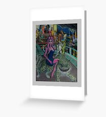 Alien Debutante's Night On The Town Greeting Card