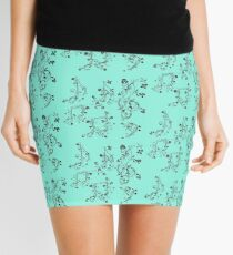 Floral Music Notes Mini Skirt