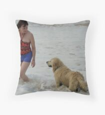 Beautiful Nature Woman with the Heart of Francis Of Assai Throw Pillow