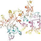 Blumenmusiknoten 2 von AnnArtshock