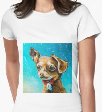 Glamorous dog Women's Fitted T-Shirt
