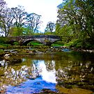 Stone Bridge - River Skirfare. by Trevor Kersley