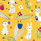 Rabbit pattern 2 by grafart