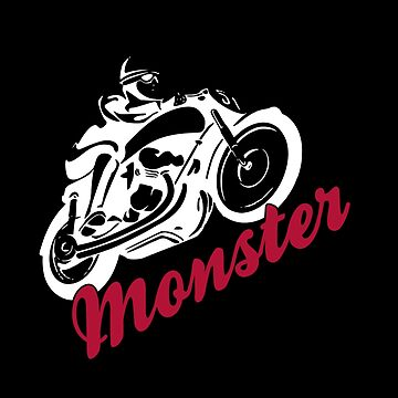 Monster Motorcycle T-Shirt & Gift by larry01