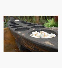 sungka, a Philippine mancala game Photographic Print