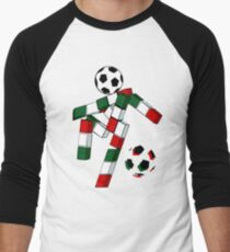 A Casual Classic iconic Italia 90 inspired t-shirt design  Men's Baseball ¾ T-Shirt