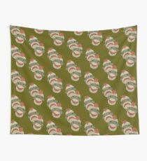 Tragedy and Comedy Sock Monkeys Wall Tapestry