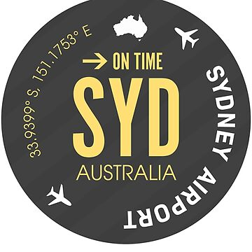 Airport code SYD Sydney by Aviators