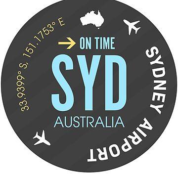 Airport sticker SYD Sydney blue by Aviators