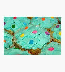 cupcake with green coating and sugar candies Photographic Print