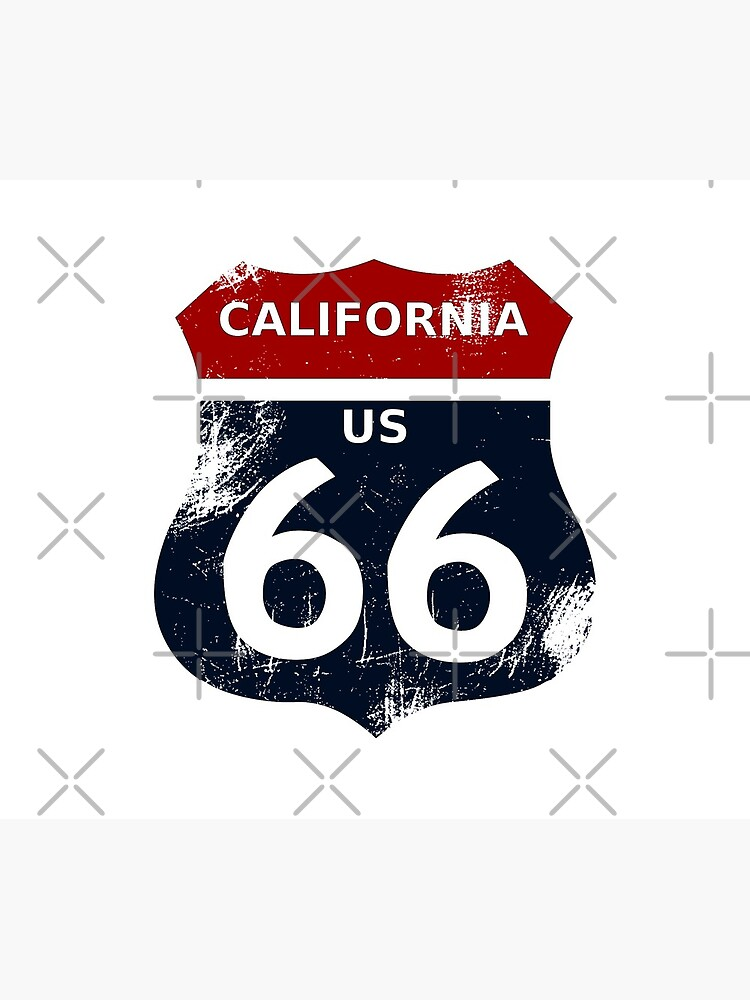 California Route 66 with transparency and no border by Edxgar