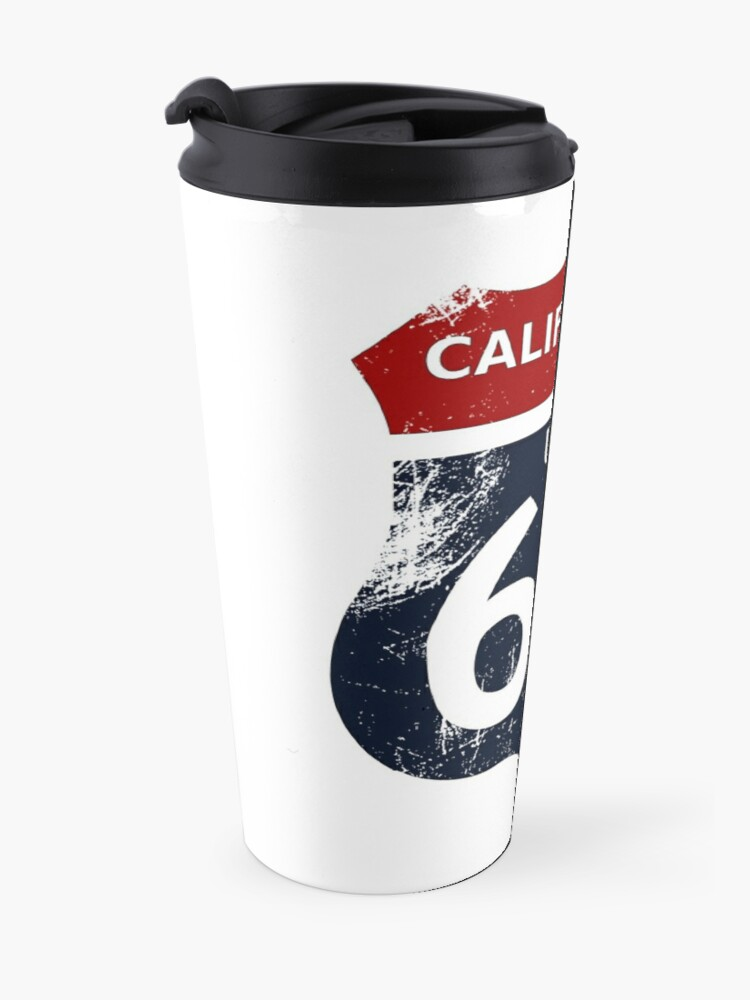Alternate view of California Route 66 with transparency and no border Travel Mug