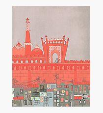 Purani Dilli, Old Delhi - A Postcard from India Photographic Print