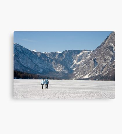 Into the frozen valley Canvas Print