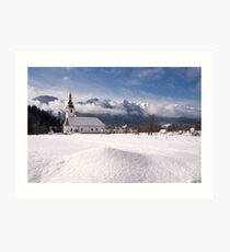 beautiful bohinsjska Bistrica and its church Art Print