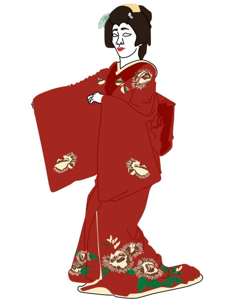 Chestnuts Kimono Motif by KHRArts