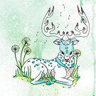 Pastel Reindeer by LonelyTreeArt