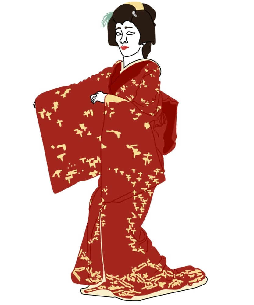 Wild Geese Kimono Motif by KHRArts