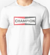 Cliff Booth verblasste Champion Logo T-Shirt - Es war einmal in Hollywood Slim Fit T-Shirt