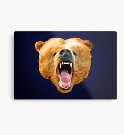 Poly Bear Metal Print
