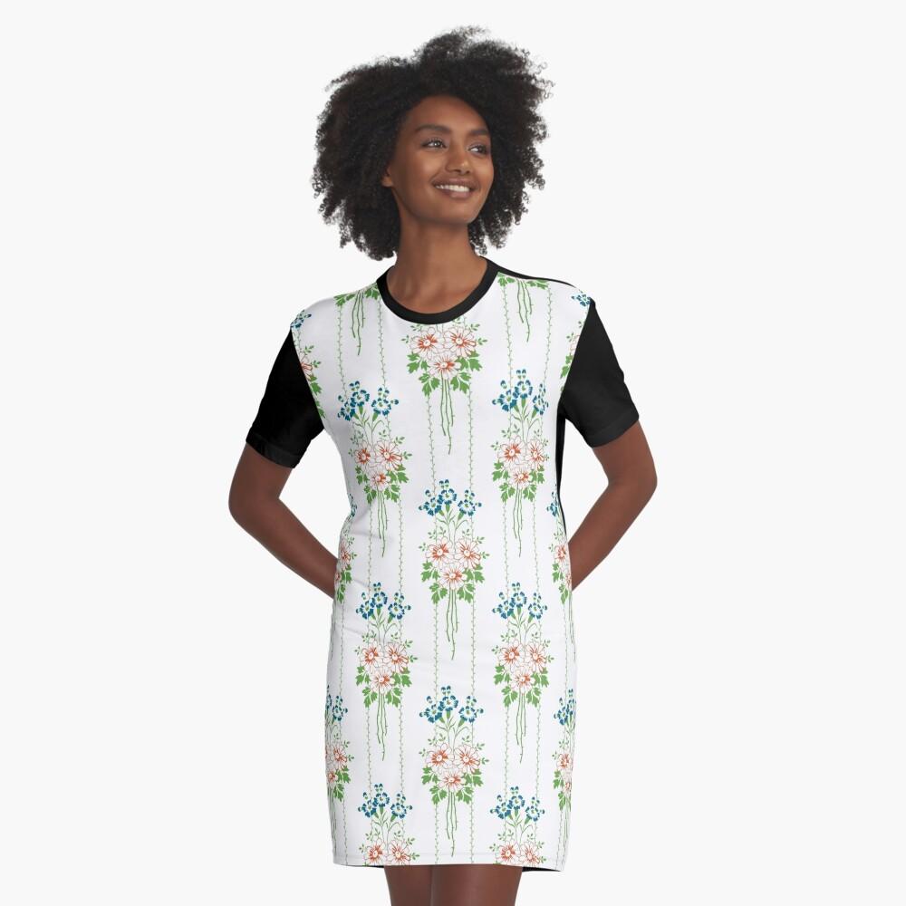 Baroque Wallpaper Blumenbouquet... T-Shirt Kleid