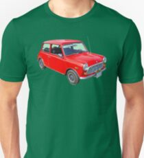 Red Mini Cooper Antique Car Unisex T-Shirt