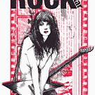 Rock Star girl with guitar by designhp