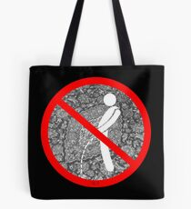 do not pee on the Dude's rug Tote Bag