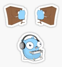 Piano Gophers: Go and play with your heart! Sticker