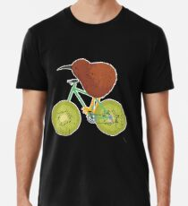 Kiwi Frucht Neuseeland Fahrrad Fahrradfahren T-Shirt Premium T-Shirt