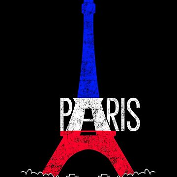 Paris Eiffel Tower France National Flag Souvenir by peter2art