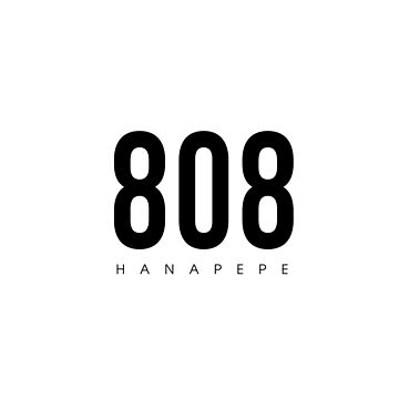 Hanapepe, HI - 808 Código de área de diseño de CartoCreative