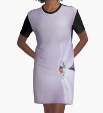Lavender Spring Flowers Graphic T-Shirt Dress