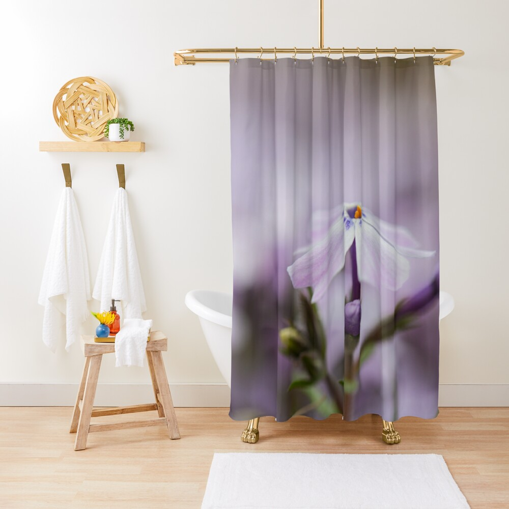 Lavender Spring Flowers Shower Curtain
