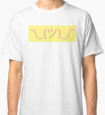 Camiseta clásica emoticon encogiéndose de hombros