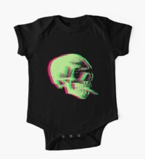 Van Gogh Skull with burning cigarette remixed Kids Clothes