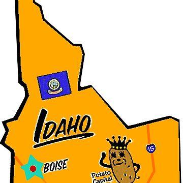 Idaho Touristische Karte von Havocgirl