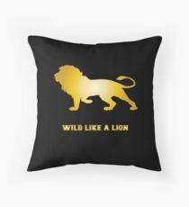 Cojín de suelo Salvaje como un león león león melena león depredador regalo