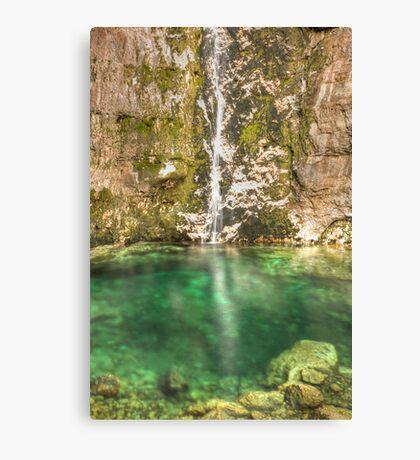 Savica Waterfall, Bohinj, Slovenia. Canvas Print