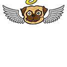 Angel Pug by chrisvig