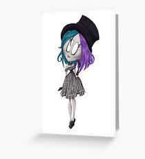 Lolita à rayures Carte de vœux