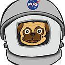 Space Pug by chrisvig