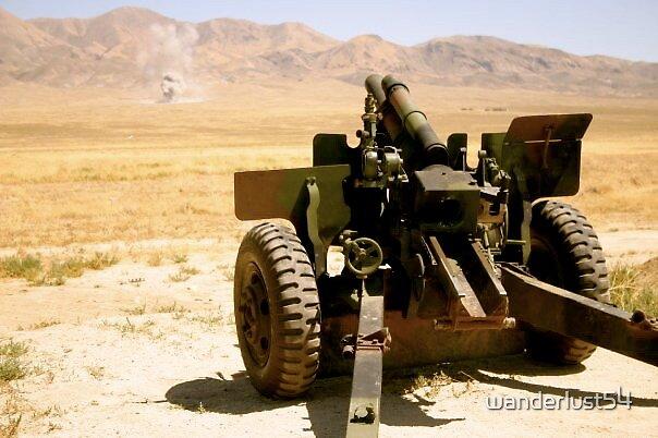 155mm Howitzer- Marking targets in Fallon, NV by wanderlust54