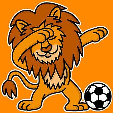 Dab Dabbing Lion Dutch Football Netherlands Orange by LaundryFactory