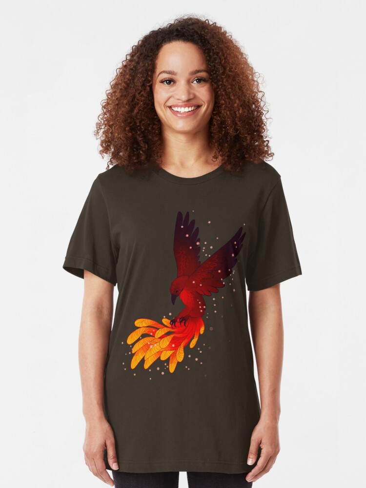 """Alternate view of """"You Will Rise Above the Ashes"""" Phoenix Slim Fit T-Shirt"""