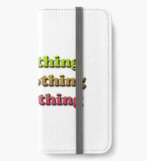 See nothing, hear nothing, say nothing iPhone Wallet/Case/Skin