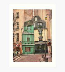 Odette in Paris Art Print